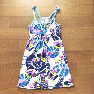 Roxy Blue and Purple Floral Sun Dress